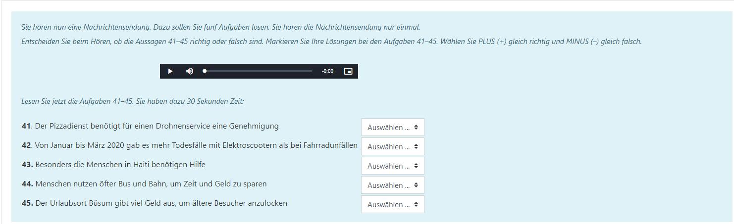 Hörverstehen - Moodle - telc
